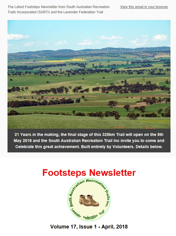Footsteps Newsletter - April 2018 - banner