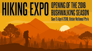 Hiking Expo Opening of the Bushwalking Season 15th April 2018 logo
