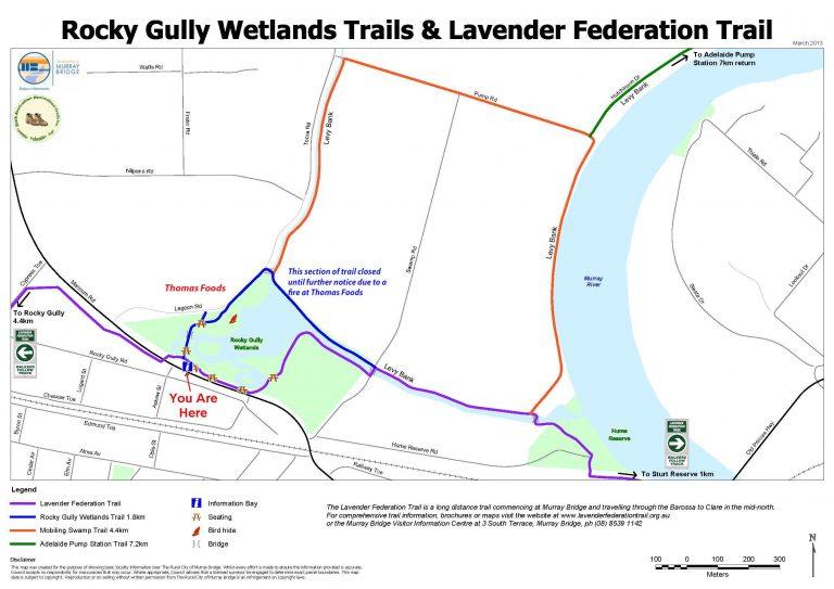Lavender Federation Trail - Wetlands - Thomas Foods fire DETOUR