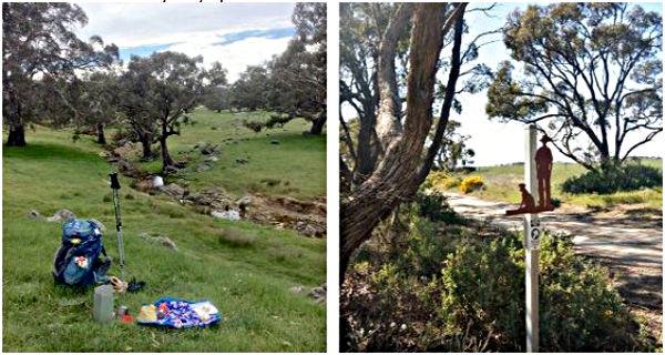 Michelle Ryan - Lunch Stop on Lavender Federation Trail & Eudunda Gustav Trail Marker