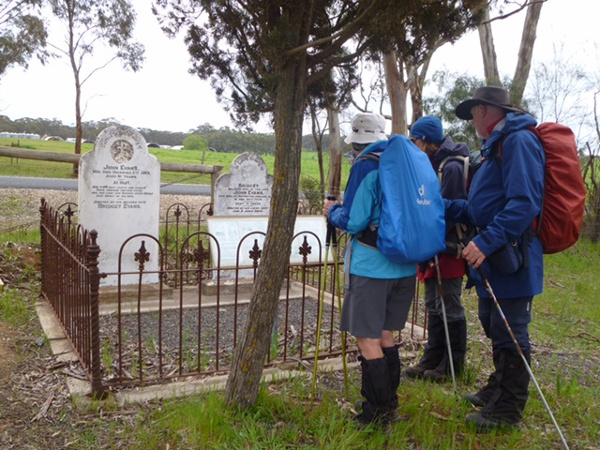 Lavender Federation Trail - Pausing for reflection by a small Irish pioneer cemeteryPausing for reflection by a small Irish pioneer cemetery
