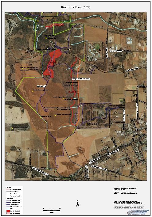 Kinchina Spring Burn Off map - thumbnail
