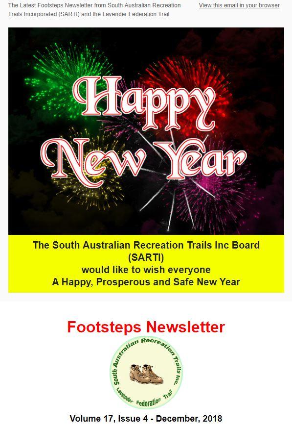 Footsteps Newsletter Cover Dec 2018