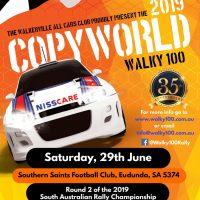 2019 Copyworld Walky 100 - Eudunda - 29th June 2019 - Poster