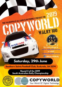 2019 Copyworld Walky 100 - Eudunda - 29th June 2019 - Poster
