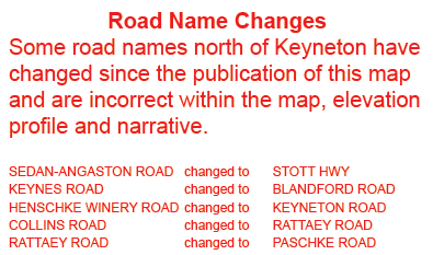Lavender Federation Trail - Road Name Changes - Map 3