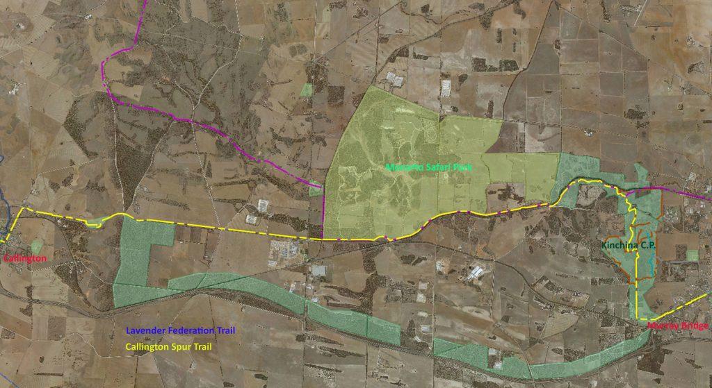 Callington Spur Trail part of the Lavender Federation Trail Network