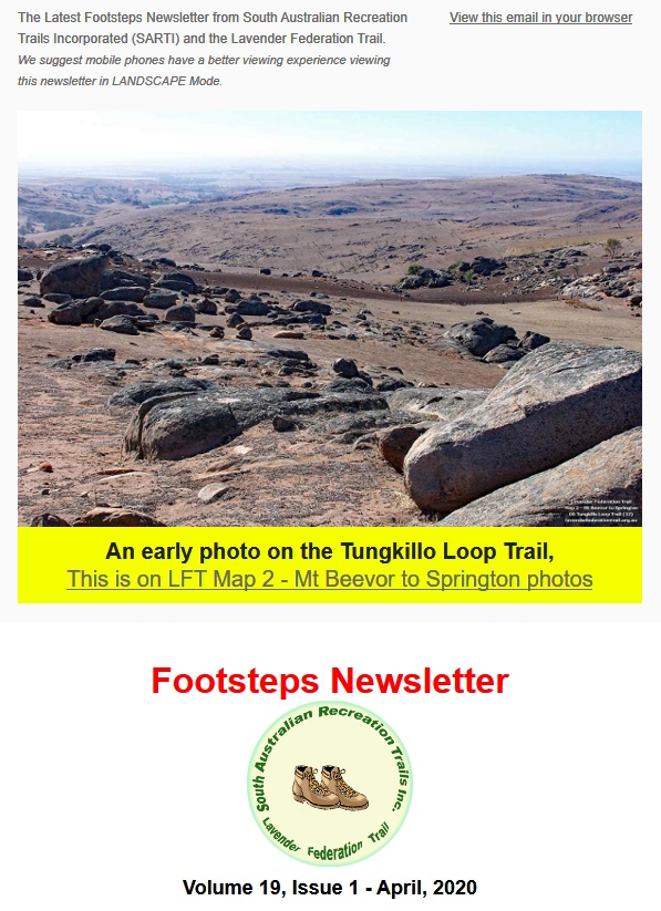 Footsteps Newsletter - April 2020