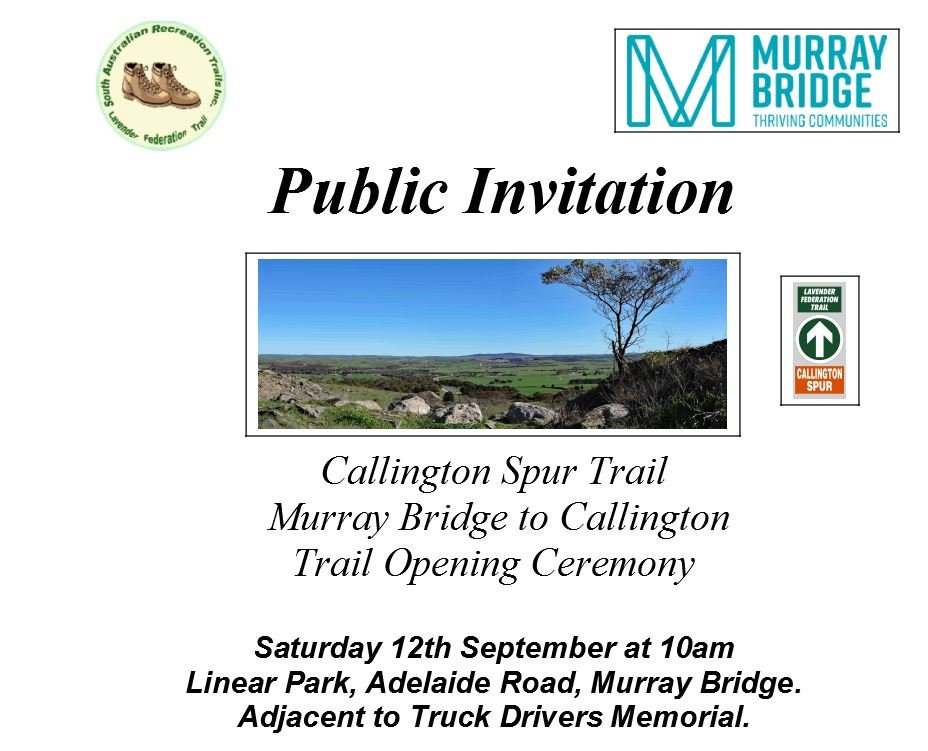 Calington Spur Trail Official Opening Poster top