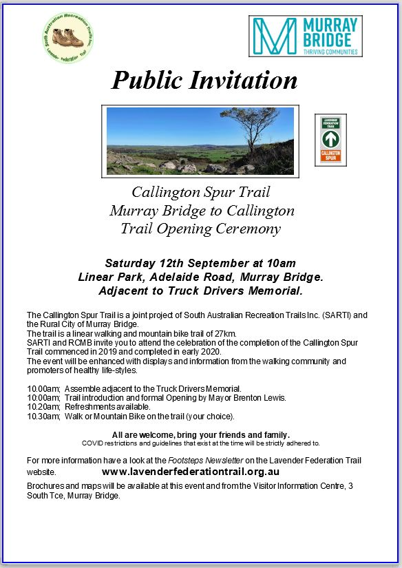 Calington Spur Trail Official Opening Poster