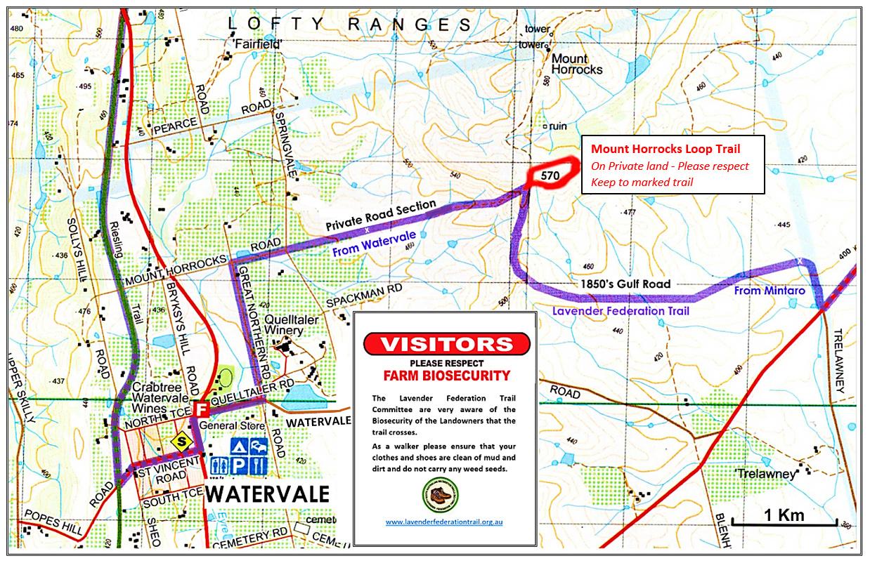 Mt Horrocks Lookout - Spur Loop Trail Map